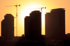 Schattenbild des Gebäudes stockfotos