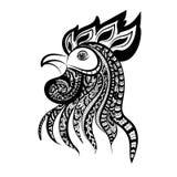 Schattenbild des Hahnkopfes stock abbildung