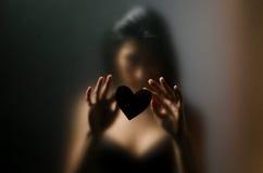Schattenbild des jungen Mädchens sexuell Lizenzfreies Stockbild