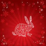 Schattenbild des Kaninchens Stockfoto