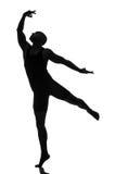 Schattenbild des männlichen Tänzers Lizenzfreie Stockfotos