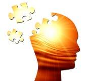 Schattenbild des menschlichen Kopfes Stockfotos