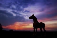 Schattenbild des Pferds Stockfotos
