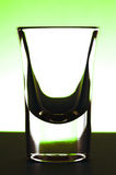 Schattenbild des Schußglases Lizenzfreie Stockbilder