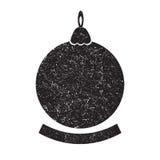 Schattenbild des schwarzen Weihnachtsballs Lizenzfreies Stockfoto
