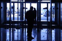 Schattenbild des Sicherheitsbeamten Stockfotografie