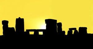 Schattenbild des Stonehenge Lizenzfreie Stockbilder