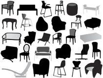 Schattenbild des Stuhls Lizenzfreie Stockfotografie