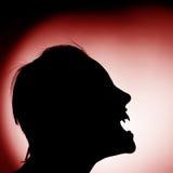 Schattenbild des Vampirs stockfoto