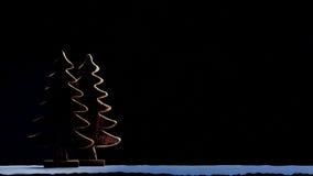 Schattenbild des Weihnachtsbaums Lizenzfreies Stockfoto