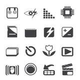 Schattenbild-Digitalkamera-Leistung Lizenzfreies Stockfoto