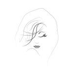 Schattenbild einer Frau mit schönem Make-up Lizenzfreie Stockfotos