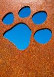 Schattenbild einer Katzentatze Stockbilder