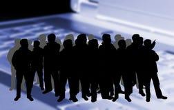 Schattenbild einer Masse Lizenzfreie Stockfotos