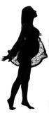 Schattenbild einer schwangeren Frau Stockbilder