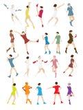 Schattenbild einer Tanzen-Frauen-Vektor-Illustration Stockfoto