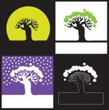 Schattenbild eines Baums Stockfoto