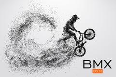 Schattenbild eines BMX-Reiters Auch im corel abgehobenen Betrag