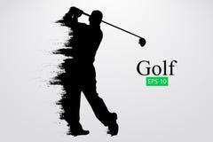 Schattenbild eines Golfspielers Auch im corel abgehobenen Betrag