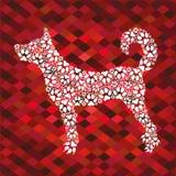 Schattenbild eines Hundes von den Drucken Lizenzfreies Stockbild