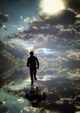 Schattenbild eines laufenden Mannes Lizenzfreie Stockbilder