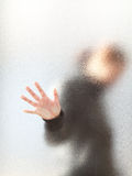 Schattenbild eines Mädchens stockbild