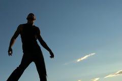 Schattenbild eines Mannes Stockfotografie