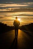 Schattenbild eines Mannes Stockfoto