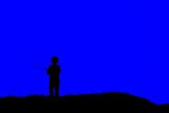 Schattenbild eines Mädchens Lizenzfreie Stockbilder