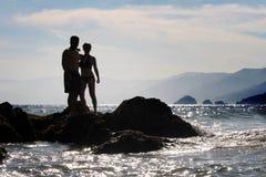 Schattenbild eines Paares Lizenzfreie Stockfotografie