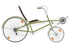 Kurzes recumbent Fahrrad. stock abbildung