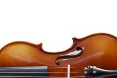 Schattenbild eines selektiven Fokus der Violine stockfotografie