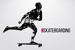 Schattenbild eines Skateboardfahrers Auch im corel abgehobenen Betrag Stockfotos