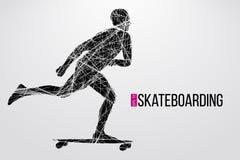 Schattenbild eines Skateboardfahrers Auch im corel abgehobenen Betrag Lizenzfreies Stockfoto