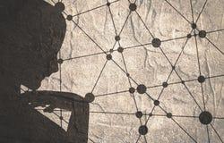 Schattenbild eines weiblichen Kopfes Lizenzfreies Stockbild