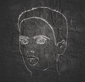 Schattenbild eines weiblichen Kopfes Stockbilder