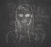 Schattenbild eines weiblichen Kopfes Lizenzfreie Stockfotografie