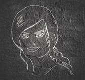 Schattenbild eines weiblichen Kopfes Lizenzfreie Stockfotos
