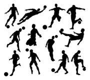 Schattenbild-Fußball-Spieler Lizenzfreies Stockfoto