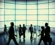 Schattenbild-Geschäftsleute gehende Team Concept Lizenzfreie Stockfotografie
