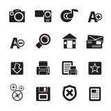 Schattenbild-Internet-und Website-Ikonen Lizenzfreie Stockfotografie
