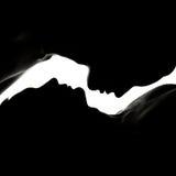 Schattenbild-Mann und Frau Lizenzfreie Stockbilder