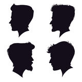 Schattenbild mit vier unterschiedliches Männern Auch im corel abgehobenen Betrag Lizenzfreies Stockfoto