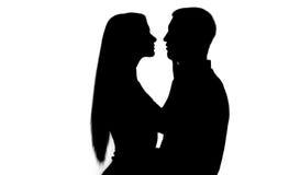 Schattenbild mit zwei Leuten Stockfoto