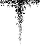 Schattenbild-Musik merkt Hintergrund Lizenzfreies Stockbild