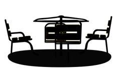 Schattenbild-Schwingen-Schwarzes auf weißem Hintergrund Vektor Stockfotografie