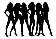 Schattenbild-sexy Mädchen Lizenzfreies Stockfoto