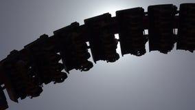 Schattenbild von Achterbahn-Schienen Lizenzfreies Stockfoto