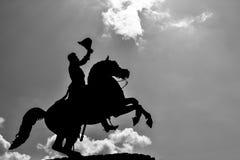 Schattenbild von Andrew Jackson Statue stockfotos