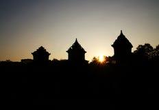 Schattenbild von Barong-Tempel stockbilder